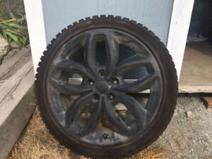 Kia Forte Studded Tires on Rims