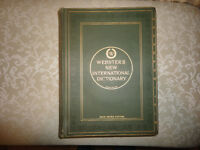 WEBSTER'S New International Dictionary 1918