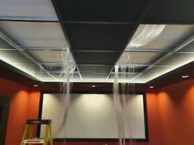 Media lounge bespoke led systems for cinema media areas