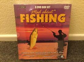 New Sealed Fishing x8 DVD's - Great Xmas/Birthday Present