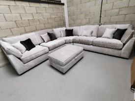 Barker & Stonehouse Borelly Extra Large Modular Corner Sofa/Footstool