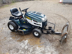 Riding mower with blade
