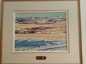 Oil painting by well known Alberta artist William Duma $1100.