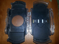 Heavy duty plastic PSP case with storage compartments