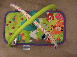 Play mat + vibrating chair + high chair