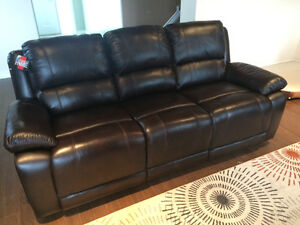 Genuine Leather couch and love seat