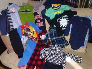 Boys 6-12mos clothing, hats, bibs and footwear