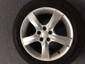 Subaru Alloy rims, Firestone FR710 tires