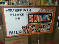 Surge Milk Signs and Clock