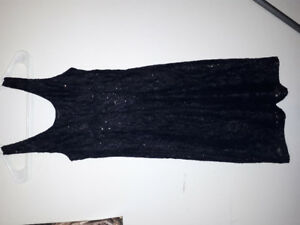 Extra small little black sequin dress brand new still has the ta