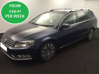 £212.39 PER MONTH Volkswagen Passat 2.0 TDI BlueMotion DSG 2012 Sport Estate