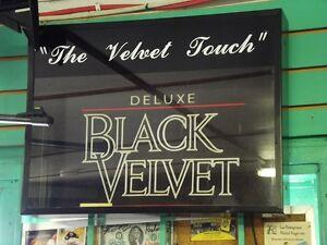 Black Velvet Whiskey Sign