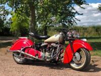 1947 Indian Chief 1200cc A Complete Rebuild