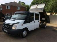 Ford Transit 100 350l DOUBLE CAB TIPPER,LOW MILEAGE,NO VAT TO PAY