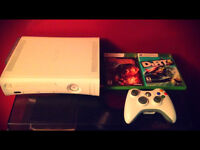 XBOX 360 With Hard Drive / Controller / Cabelas and Dirt 3
