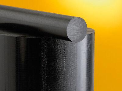 "CNC Lathe  1"" diameter x 1 FT Black Acetal Rod - Delrin     LOWEST PRICE ON EBAY"