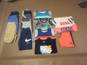 "BOYS SIZE 5 ""NAME BRAND""... 4 TANK TOPS & 8 SHORTS & 2 T/S"
