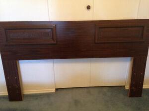 Dresser mirror and headboard