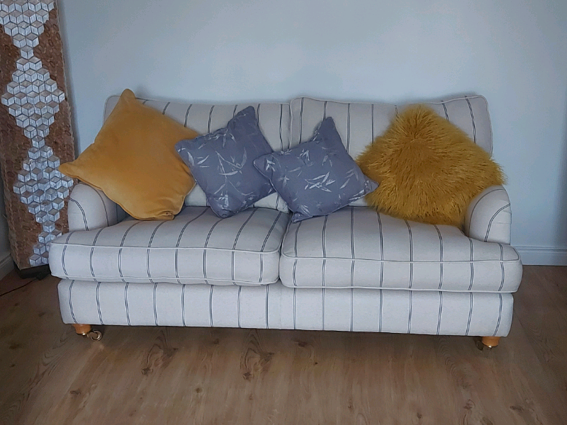 Gower 2 x 3 seater sofas and large footstool