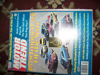 Classic Motor Trend Car Magazines Collection