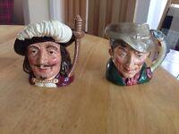 Royal Doulton Pottery Toby Jugs Small