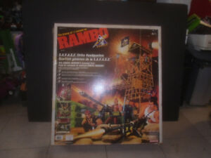 COLECO 1986 RAMBO SAVAGE STRIKE HEADQUARTERS PLAYSET ACCESSORIES