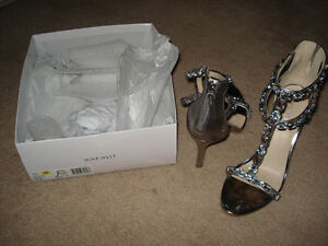 Nine West Silver sandals brand new