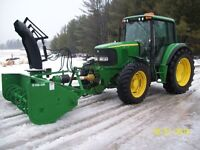 John Deere 6420 with new Lucknow Blower