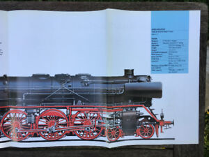 Steam Locomotive 2-Sided Poster –German/Northern Pacific Class