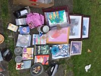 4. Boxs of car boot items