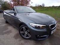 2015 BMW 2 Series 220i Sport 2dr Full leather! Low Miles! 2 door Convertible