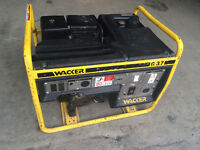 Wacker G 3.7 3700 Watt Commercial Generator Honda 8HP Gas Engine