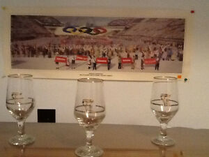 OLYMPIC GLASSES & POSTER