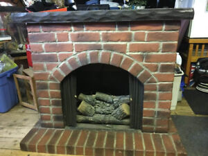 Vintage Electric Faux Fireplace with Mantel $75