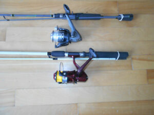 2 Canne moulinet SoutBend, 2 Fishing rods and reels