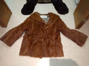 Genuine Mink Fur Coat and Stole from the 1950s