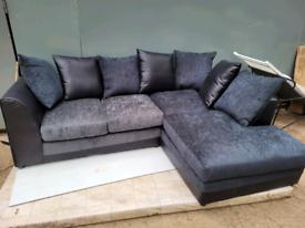 Black denver corner sofa ex display