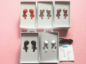 New EarPods Bluetooth Wireless Microphone Double 5-6h of music