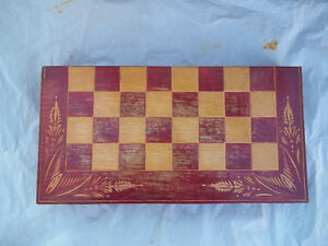 Chess Set and Backgammon Game & Board/Case