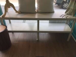 Two tiered display shelves or benches (custom made)