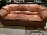 Italian leather chesterfield