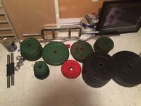Work out supplies starter bench and steal/cement weights