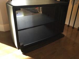 Meuble télé en mélanine noire
