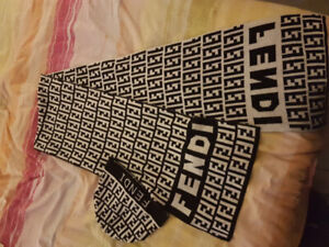 LUIS VUITTON Touque/ Scarf one of a kind