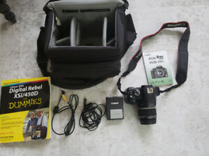 Canon Eos Rebel xsi/450D Camera & carrying case -barely used!