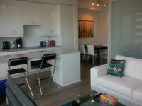 Now: Executive Furnished 1 Bed + Den Downtown Suite