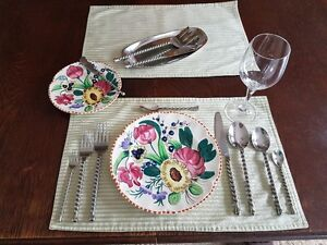 Spiral silverware set plus serving spoons and much more