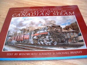 Canadian steam trains book of paintings