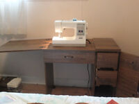 KENMORE SEWING MACHINE IN CABINET MOVING SALE