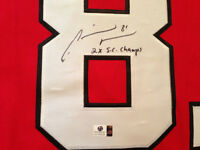 MARIAN HOSSA SIGNED  HAWKS JERSEY INSC. 2x STANLEY CUP CHAMPS